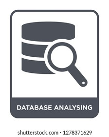database analysing icon vector on white background, database analysing trendy filled icons from Business and analytics collection, database analysing vector illustration
