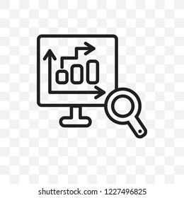 Database Analysing vector linear icon isolated on transparent background, Database Analysing transparency concept can be used for web and mobile