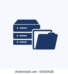 Database icon design,clean vector