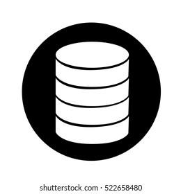 Database icon illustration design