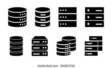 Database icon set. database vector icon