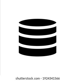 Database icon with solid style and perfect pixel icon