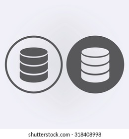 Database icon . Vector illustration
