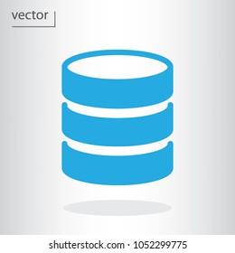 database icon - vector illustration EPS 10, flat design icon