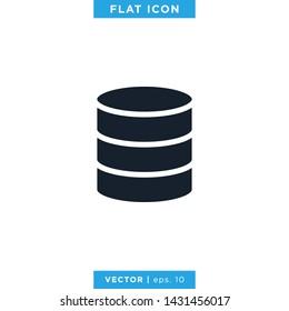 Database Icon Vector Logo Design Template