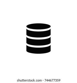Database icon, Database icon vector, in trendy flat style isolated on white background. Database icon image, Database icon illustration