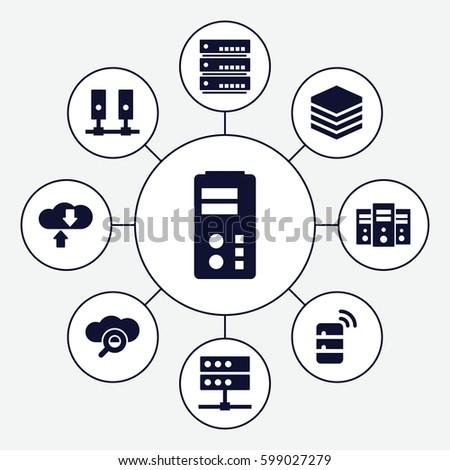 Database Icons Set Set 9 Database Stock Vector (Royalty Free