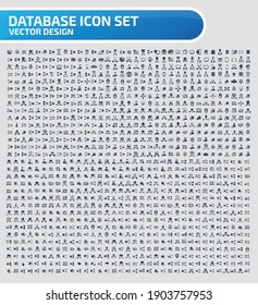 Database and internet vector icon set