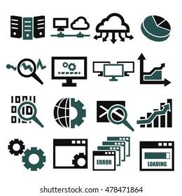 database management system icon set