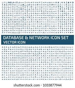 Database and network icon design