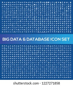 Database and network vector icon set