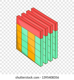 Database query table icon. Cartoon illustration of database query table vector icon for web design