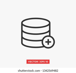 Database / Server Icon Vector Illustration