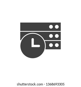 Database, server, oclock vector icon. Element of data for mobile concept and web apps illustration. Thin line icon for website design and development. Vector icon