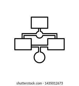 Database, server, workflow icon - Vector. Database vector icon