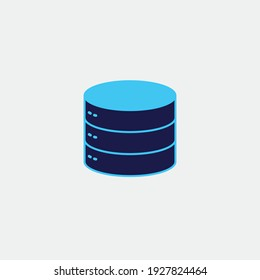database storage vector icon technology
