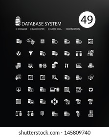 Database system and Data security icons,vector