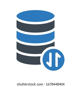 database vector glyph color icon