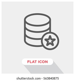 Database vector icon