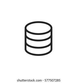 Database vector icon, server storage symbol. Modern, simple flat vector illustration for web site or mobile app