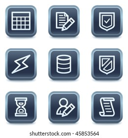 Database web icons, mineral square buttons series