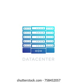 datacenter vector icon on white
