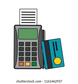 Dataphone and credit card