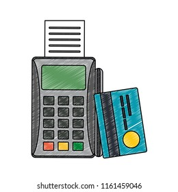 Dataphone and credit card scribble