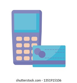 dataphone device with credit card