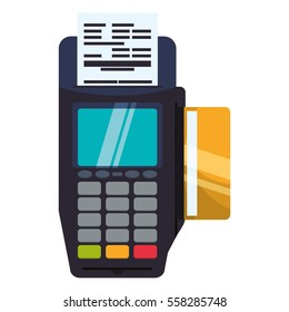 dataphone device icon over white background. mobile payment concept. colorful design. vector illustration