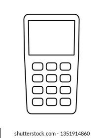 dataphone device isolated icon