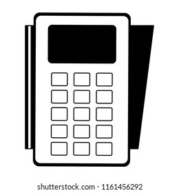 Dataphone electronic payment in black and white