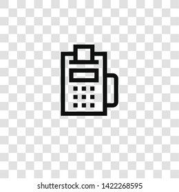 dataphone icon from mall collection for mobile concept and web apps icon. Transparent outline, thin line dataphone icon for website design and mobile, app development
