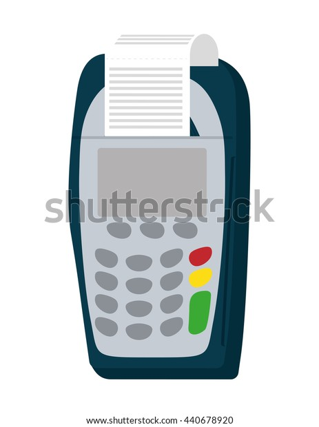 Dataphone icon. Money and Financial item design. vector graphic