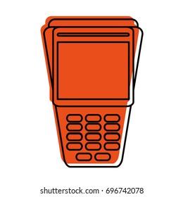 dataphone or pos terminal icon image