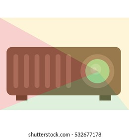 datat beamer vector illustration
