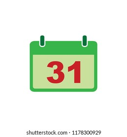 Date button, Calendar sign icon. 31 day month symbol