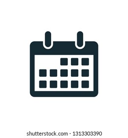 date, calendar icon vector symbol