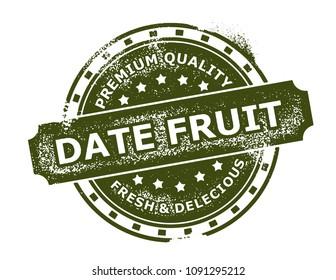 Date Fruit Stamp