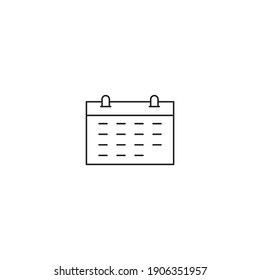 date icon, isolated date sign icon, vector illustration