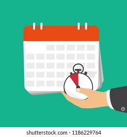 Date and time icon. Alarm and calendar. Vector