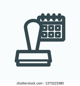 Dater icon, dater stamp isolated vector icon
