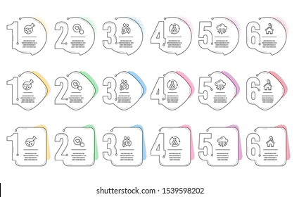 Dating chat, Like button and Home line icons set. Infographic timeline. Chemistry lab, Cloud storage and Chemistry experiment signs. People love, Press love, House building. Laboratory. Vector
