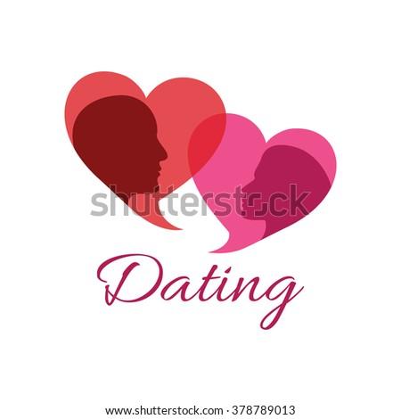 Dating logo vector