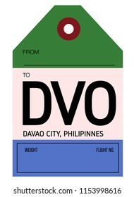 davao city philippines airport luggage tag