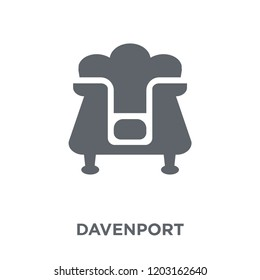 Davenport icon. Davenport design concept from Furniture and household collection. Simple element vector illustration on white background.