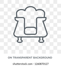 Davenport icon. Davenport design concept from Furniture and household collection. Simple element vector illustration on transparent background.