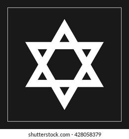 david star icon. david star vector illustration