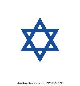 David star. Israel flag