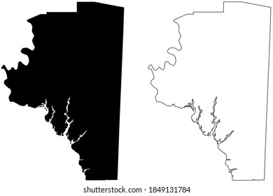 Davidson County, North Carolina State (U.S. county, United States of America, USA, U.S., US) map vector illustration, scribble sketch Davidson map